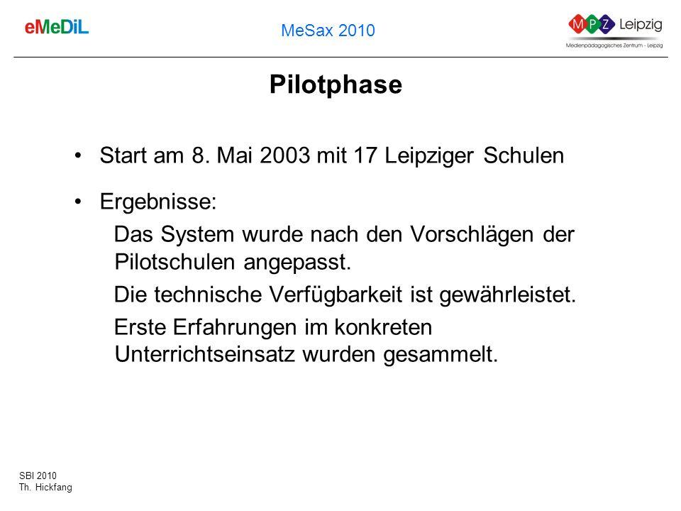 Pilotphase Start am 8. Mai 2003 mit 17 Leipziger Schulen Ergebnisse: