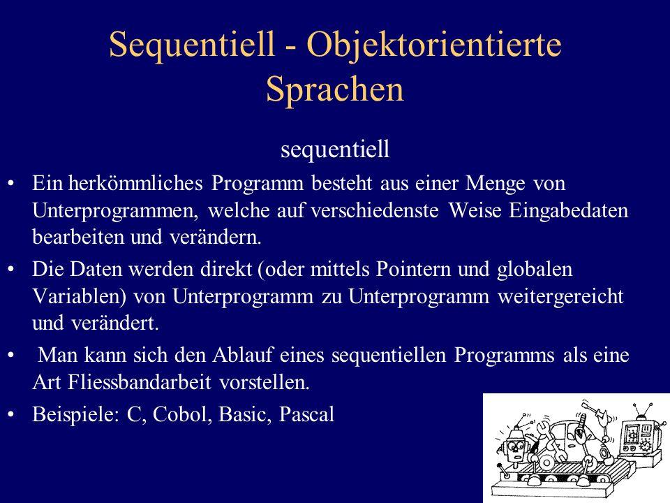 Sequentiell - Objektorientierte Sprachen