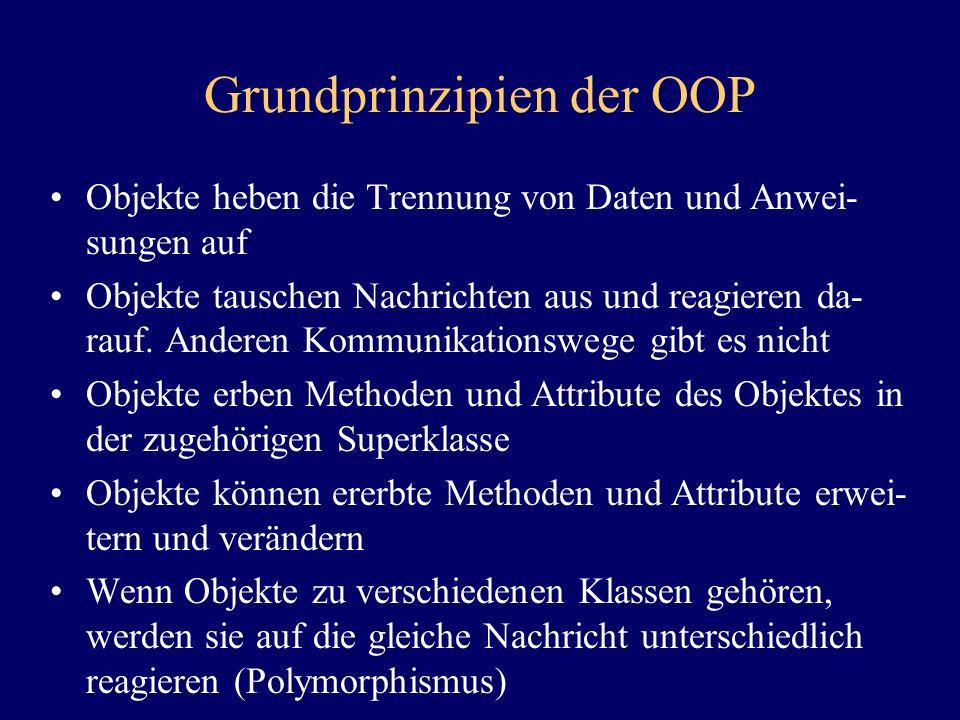 Grundprinzipien der OOP