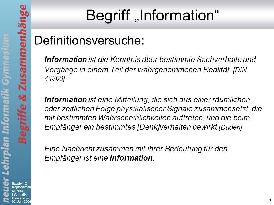 """Begriff """"Information"""