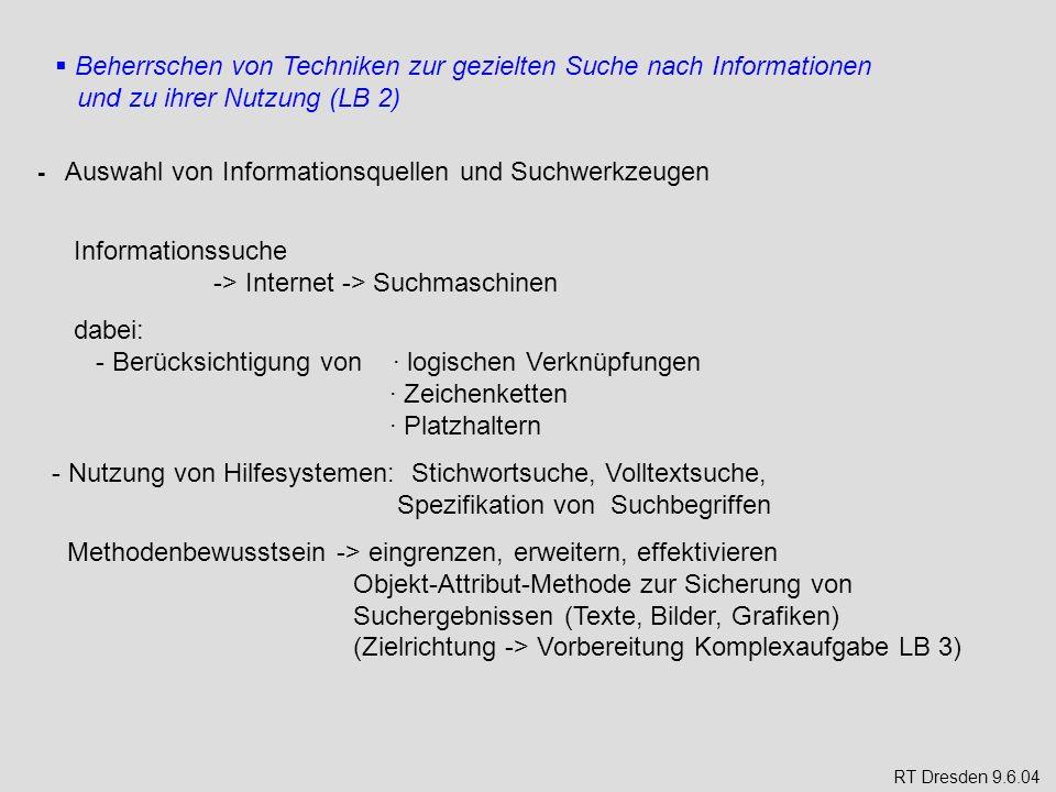 Informationssuche -> Internet -> Suchmaschinen