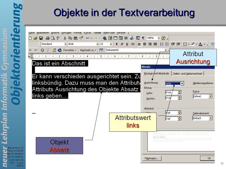 Objekte in der Textverarbeitung