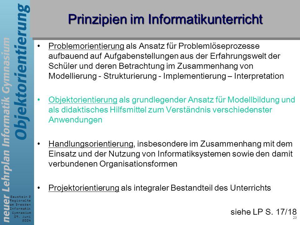 Prinzipien im Informatikunterricht