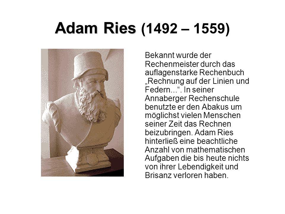 Adam Ries (1492 – 1559)