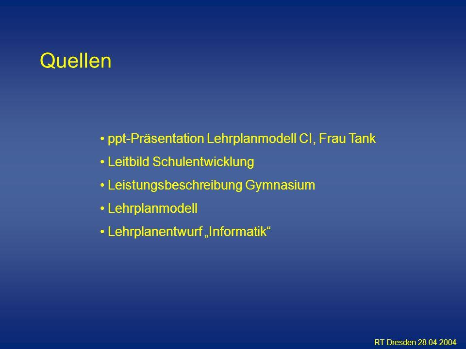 Quellen ppt-Präsentation Lehrplanmodell CI, Frau Tank