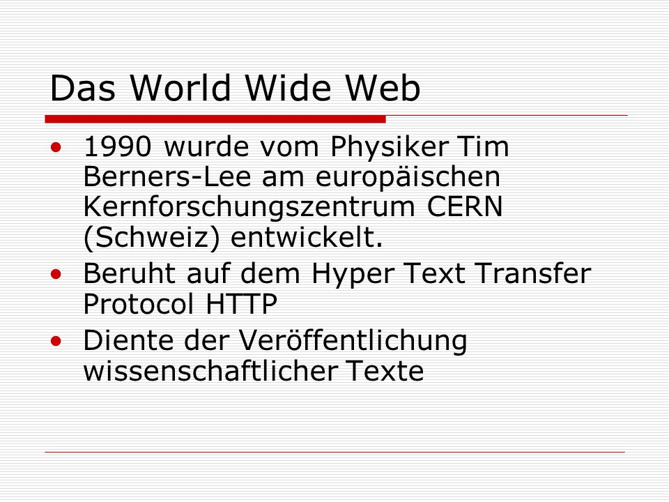 a introduction of world wide web in 1990 Read chapter 7 development of the internet and the world wide web: the past  50  most recently, in the early 1990s, the invention of the web made it much.