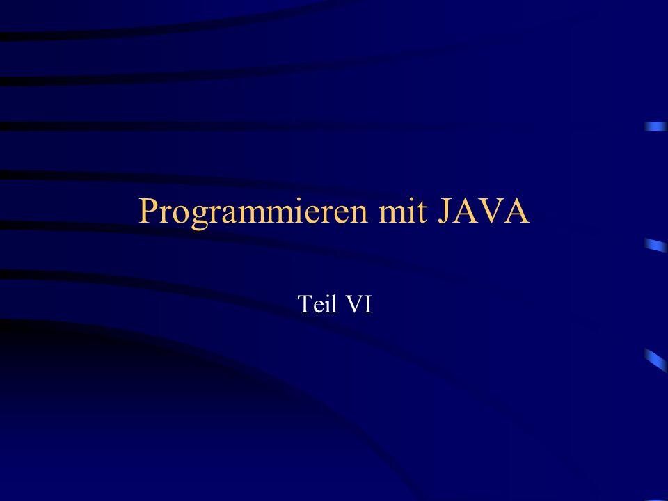 Programmieren mit JAVA