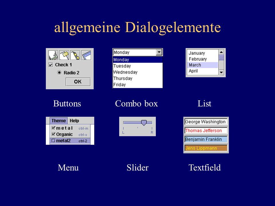 allgemeine Dialogelemente
