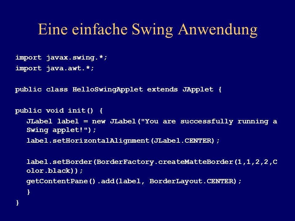 Eine einfache Swing Anwendung