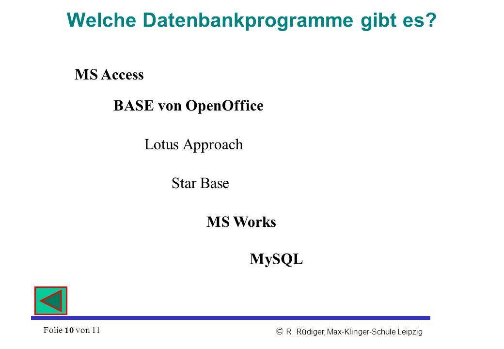 Welche Datenbankprogramme gibt es