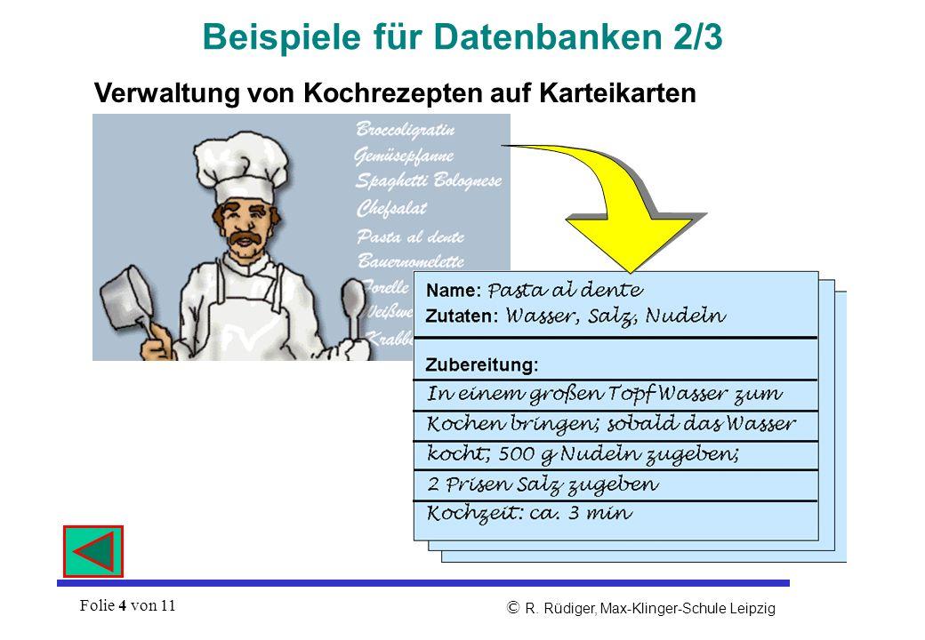 Beispiele für Datenbanken 2/3