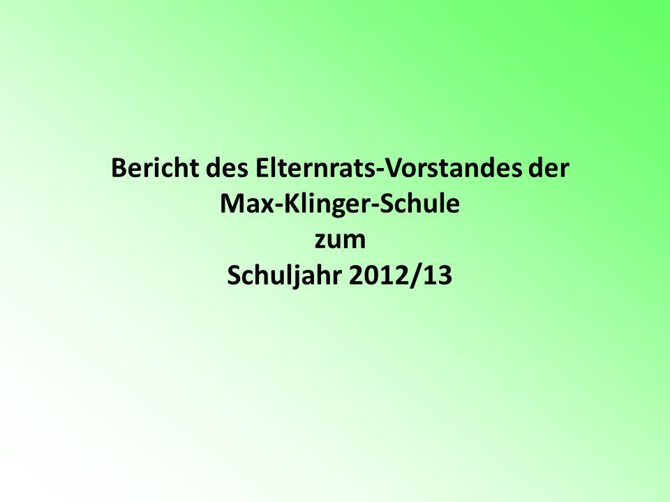 Bericht des Elternrats-Vorstandes der Max-Klinger-Schule