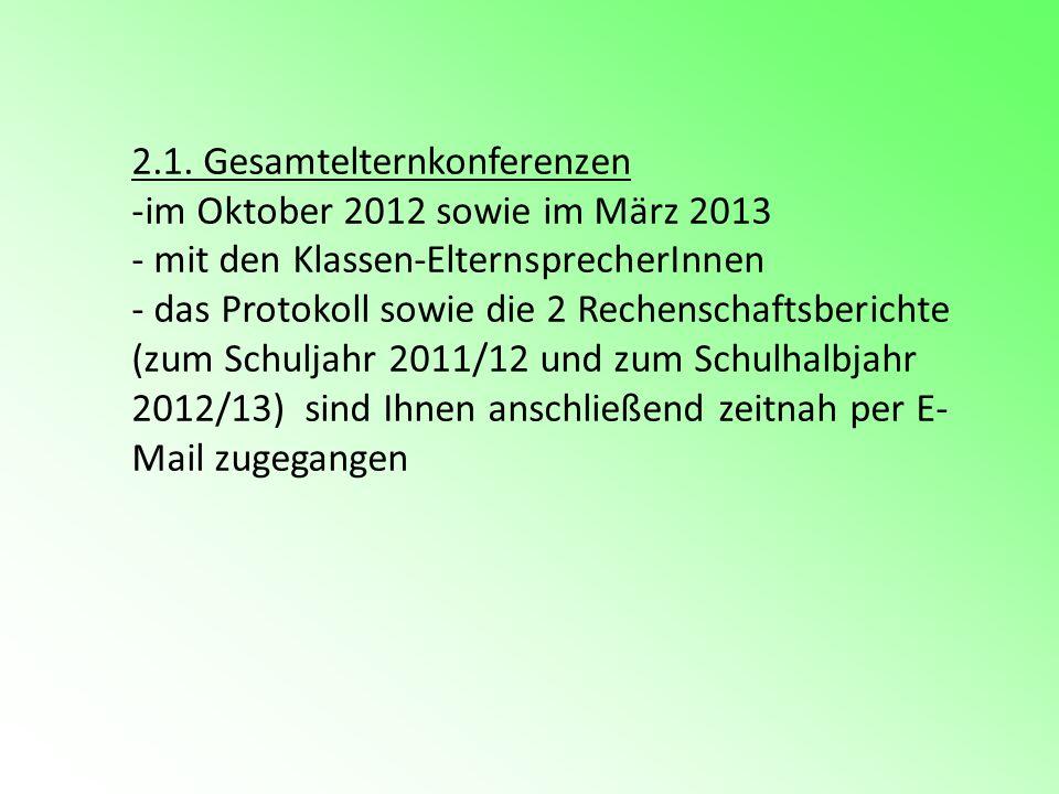 2.1. Gesamtelternkonferenzen