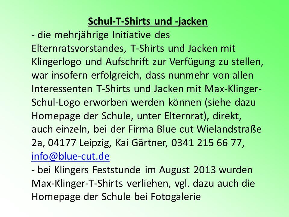 Schul-T-Shirts und -jacken