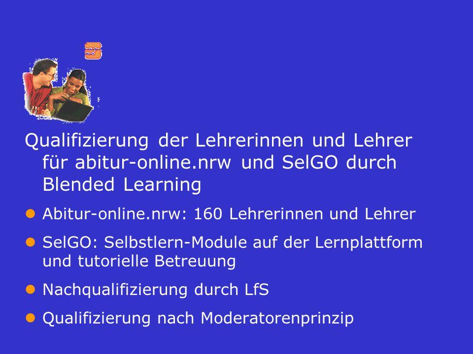 Qualifizierung der Lehrerinnen und Lehrer für abitur-online