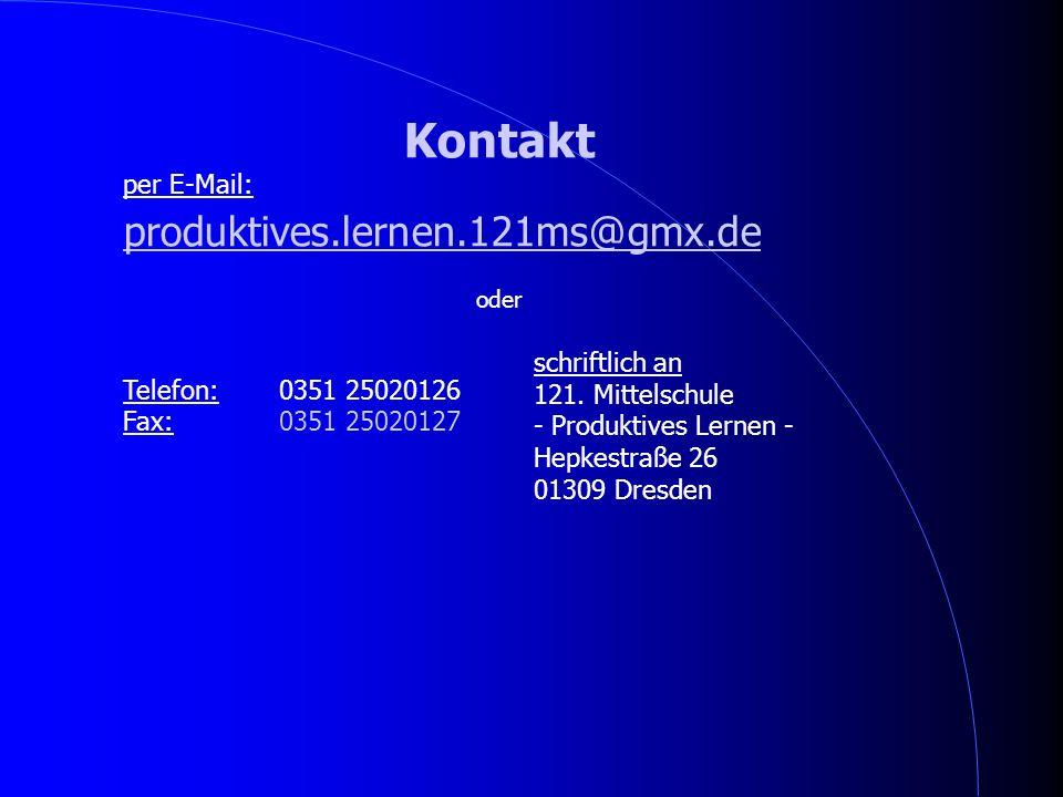 Kontakt produktives.lernen.121ms@gmx.de per E-Mail: