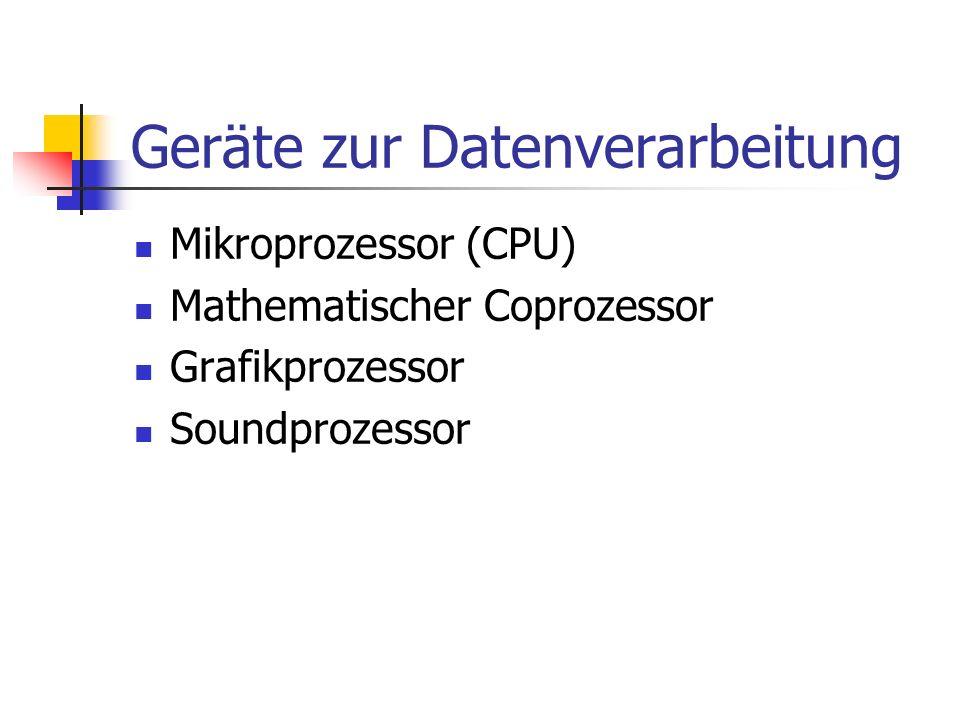Geräte zur Datenverarbeitung