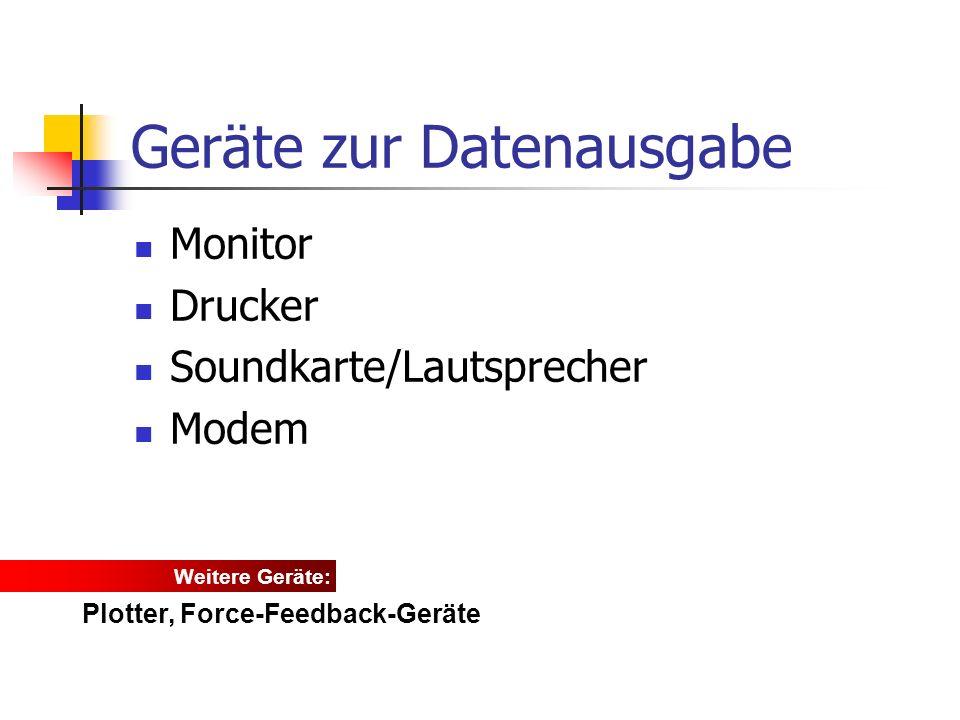 Geräte zur Datenausgabe