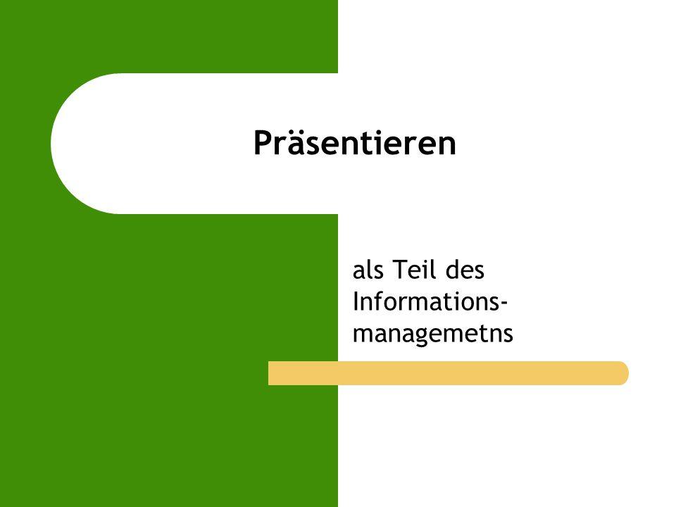 als Teil des Informations-managemetns