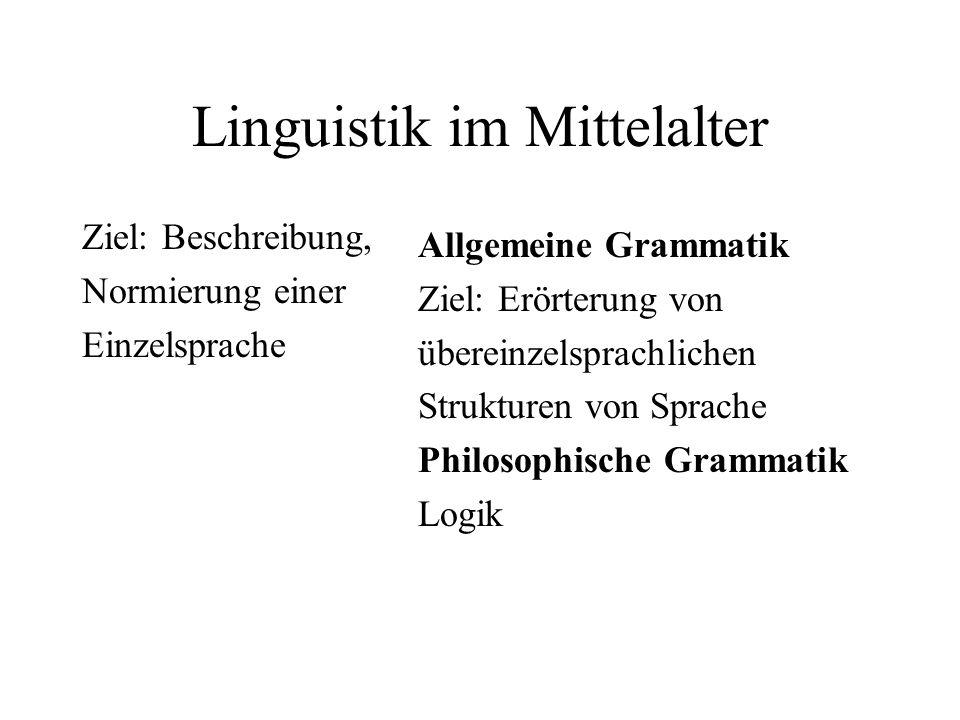 Linguistik im Mittelalter
