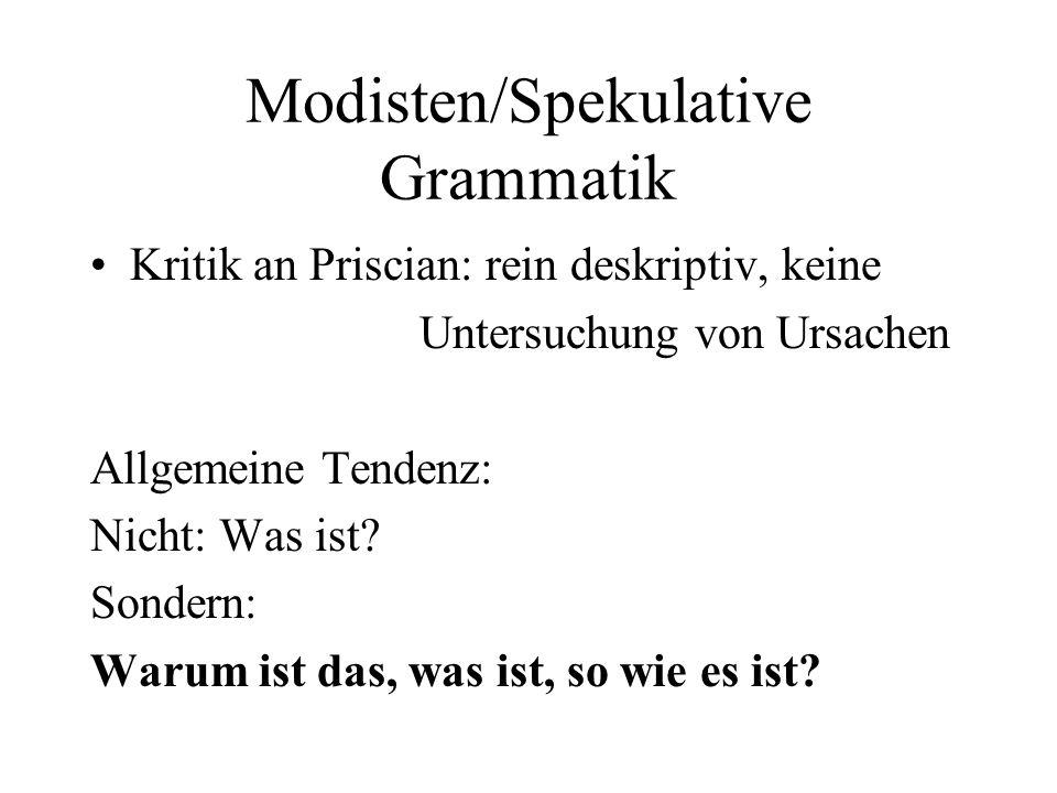 Modisten/Spekulative Grammatik
