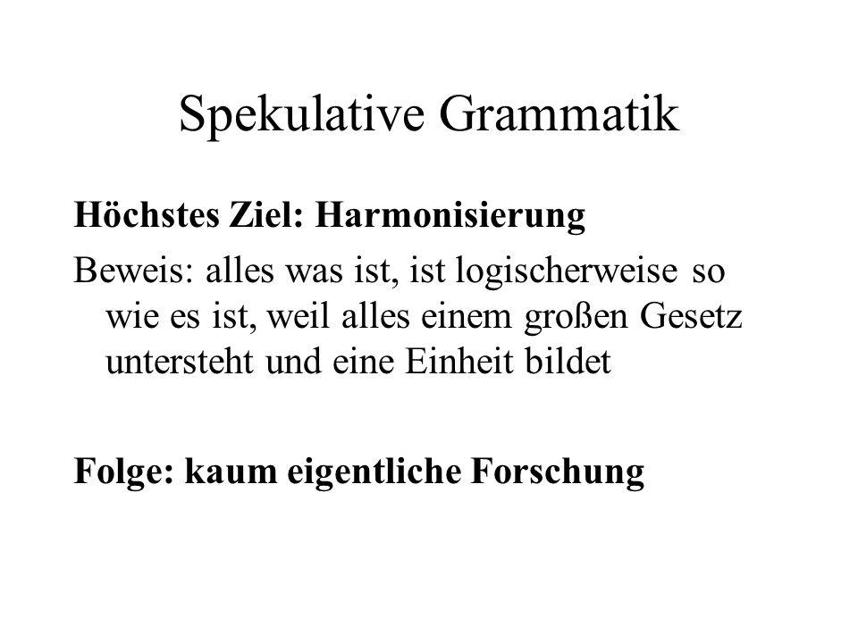 Spekulative Grammatik