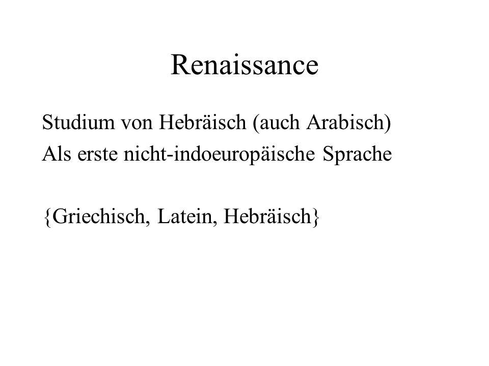 Renaissance Studium von Hebräisch (auch Arabisch)
