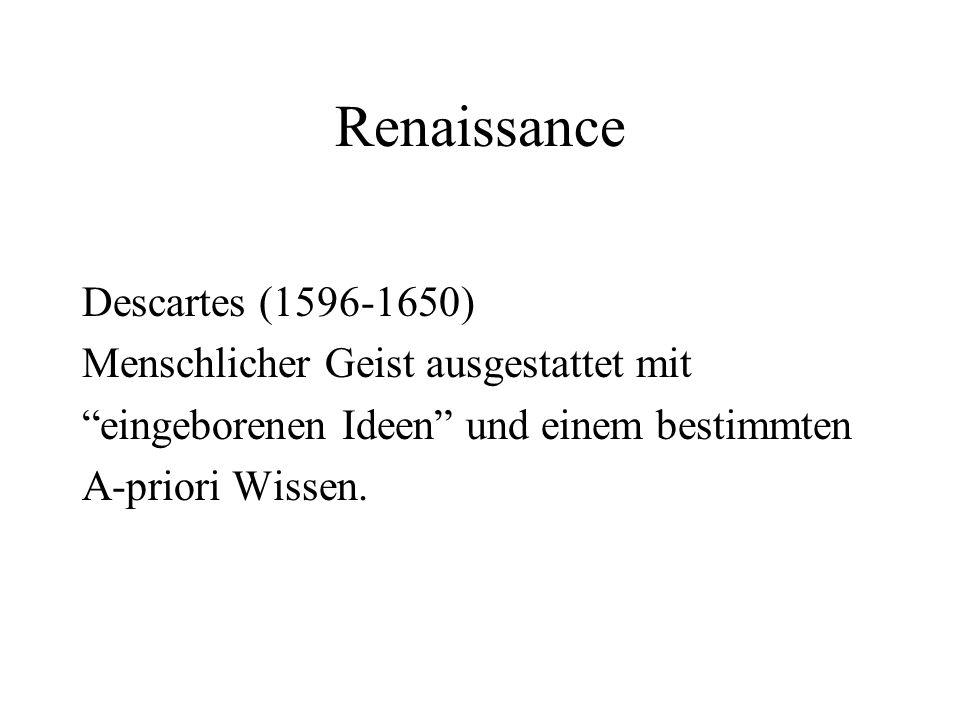 Renaissance Descartes (1596-1650) Menschlicher Geist ausgestattet mit