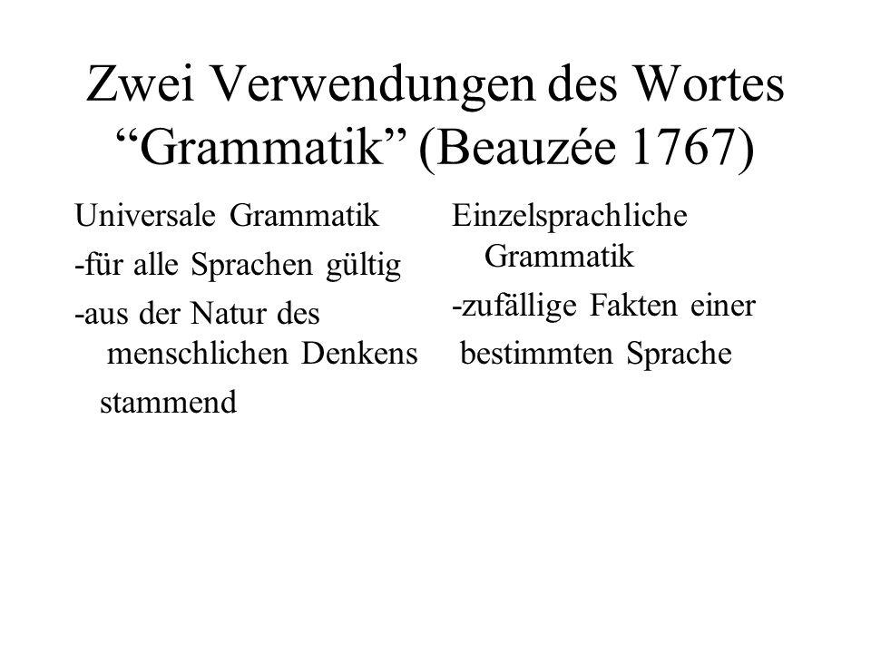 Zwei Verwendungen des Wortes Grammatik (Beauzée 1767)
