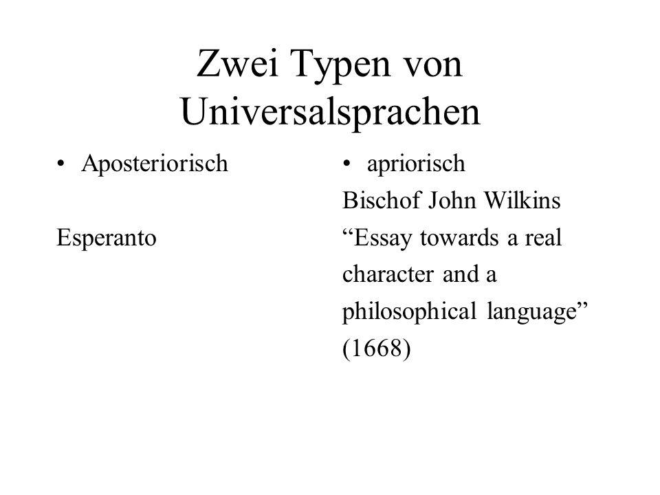 Zwei Typen von Universalsprachen