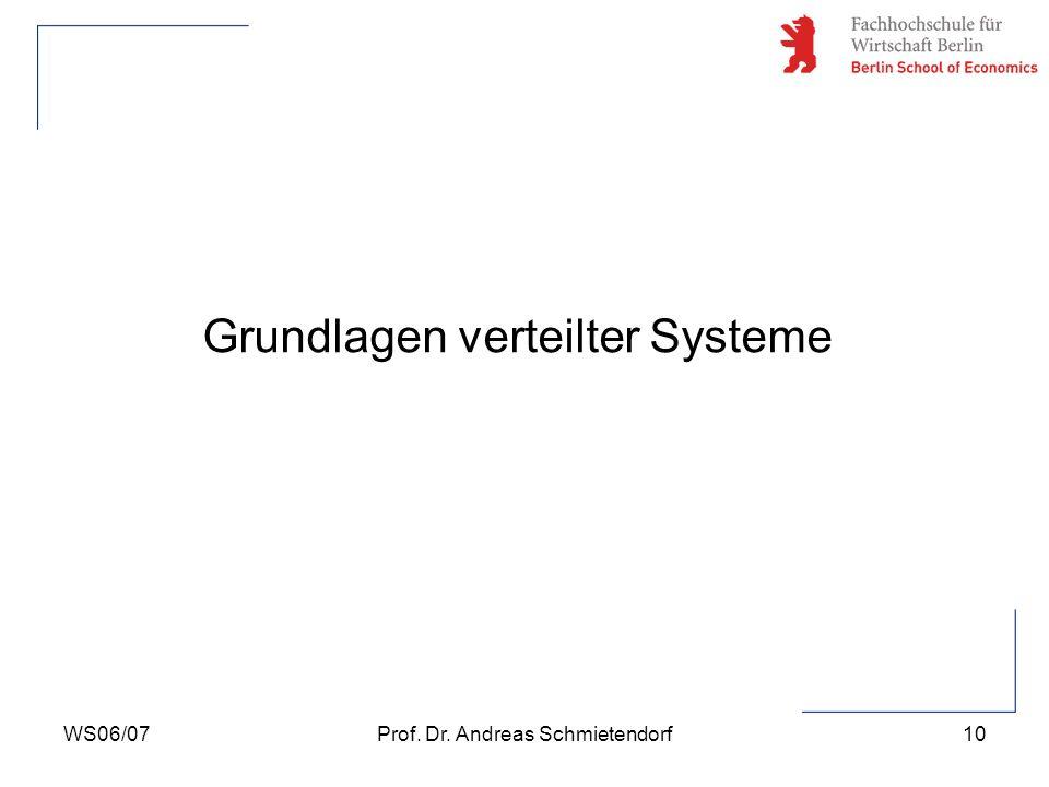 Grundlagen verteilter Systeme
