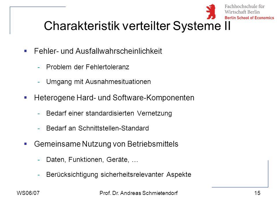 Charakteristik verteilter Systeme II