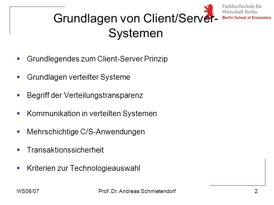 Grundlagen von Client/Server-Systemen