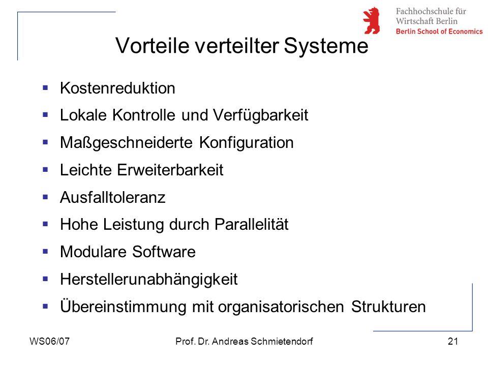 Vorteile verteilter Systeme
