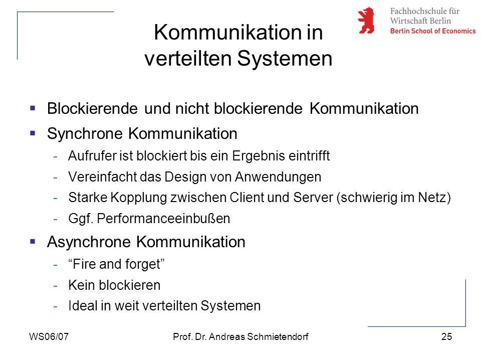 Kommunikation in verteilten Systemen
