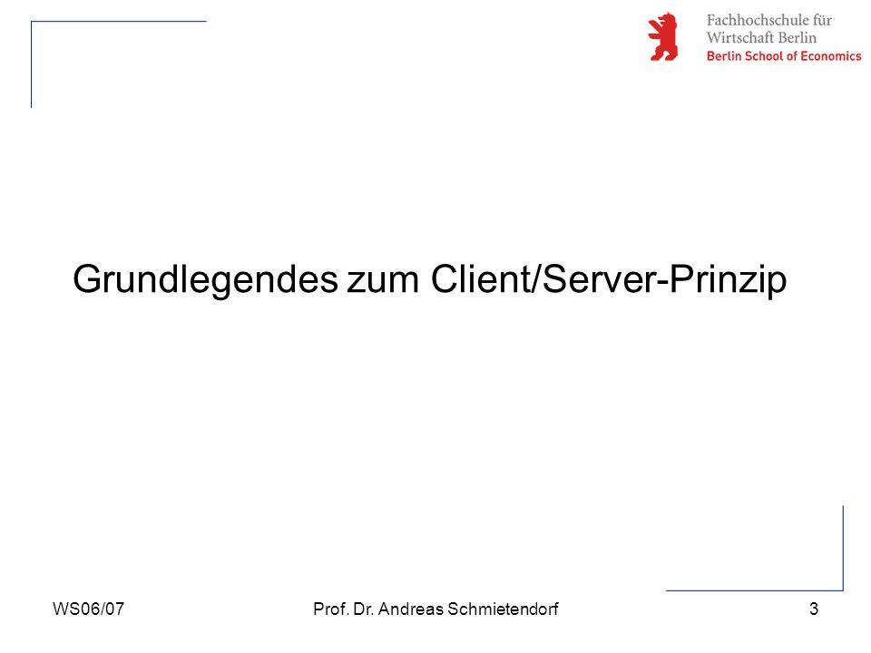 Grundlegendes zum Client/Server-Prinzip