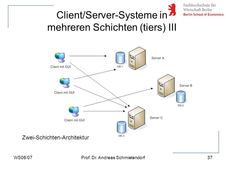 Client/Server-Systeme in mehreren Schichten (tiers) III