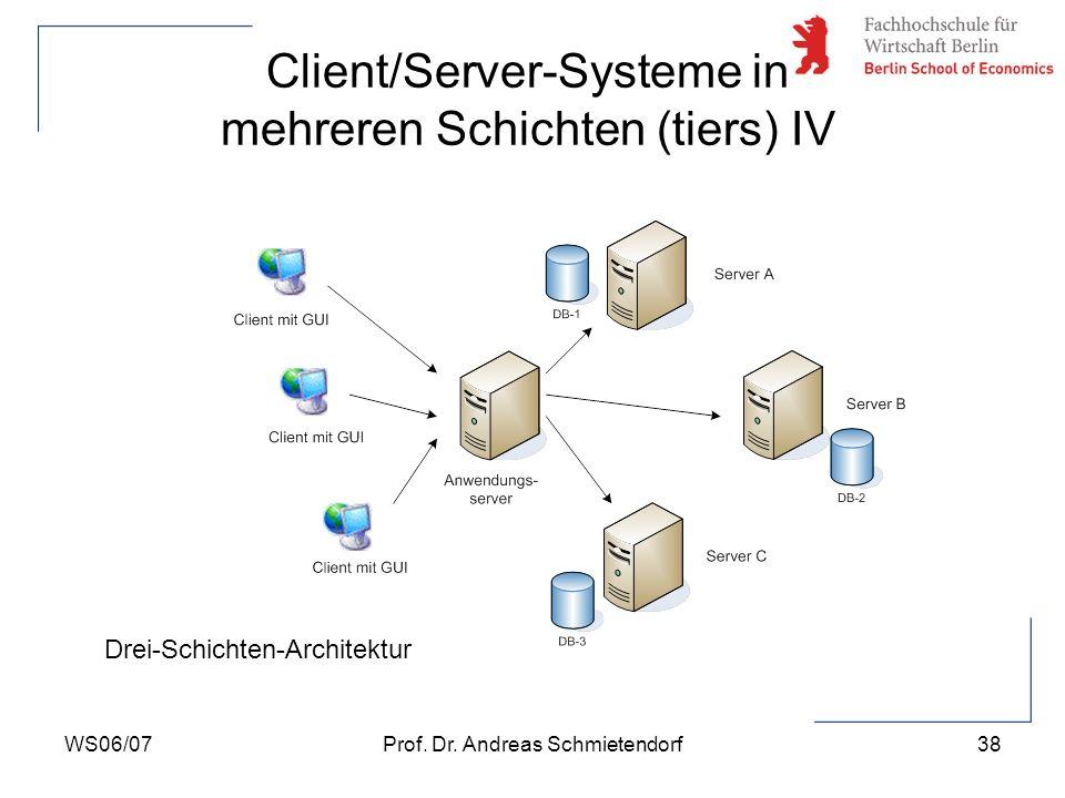 Client/Server-Systeme in mehreren Schichten (tiers) IV