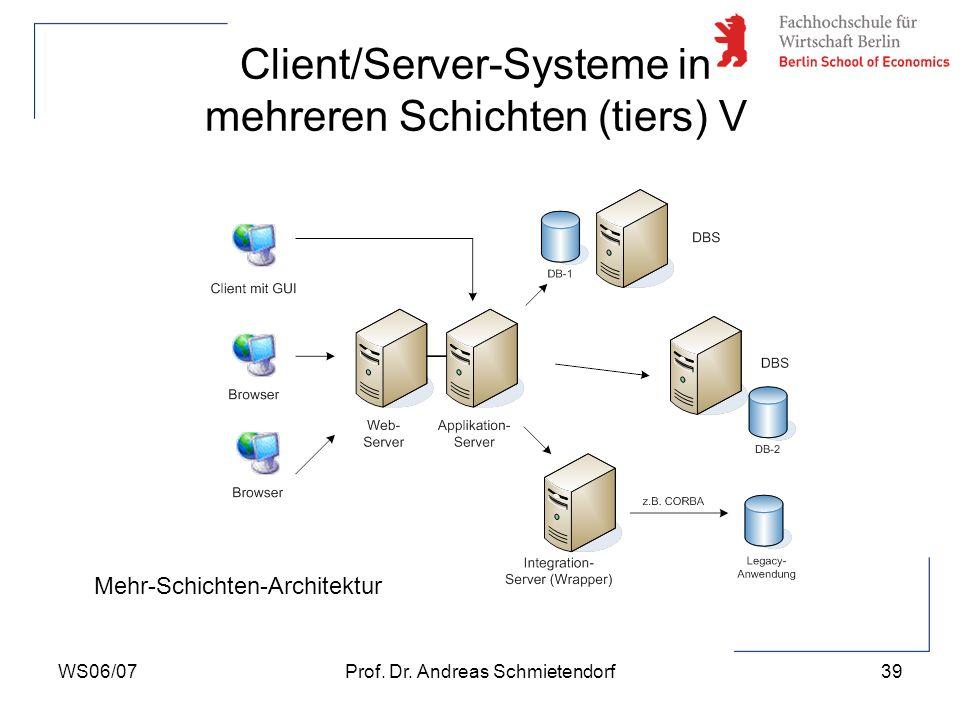 Client/Server-Systeme in mehreren Schichten (tiers) V