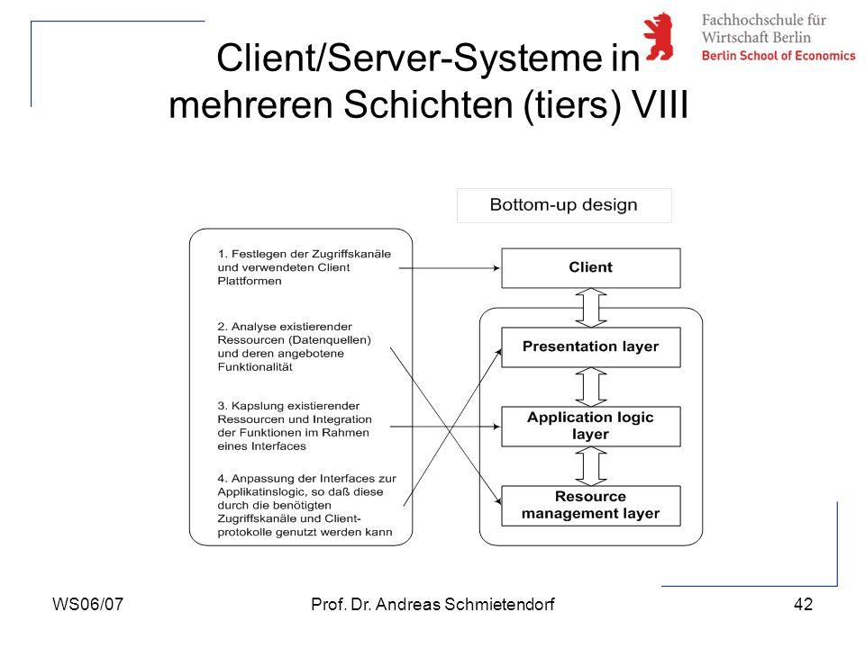 Client/Server-Systeme in mehreren Schichten (tiers) VIII