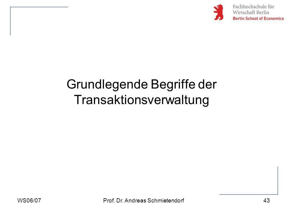Grundlegende Begriffe der Transaktionsverwaltung