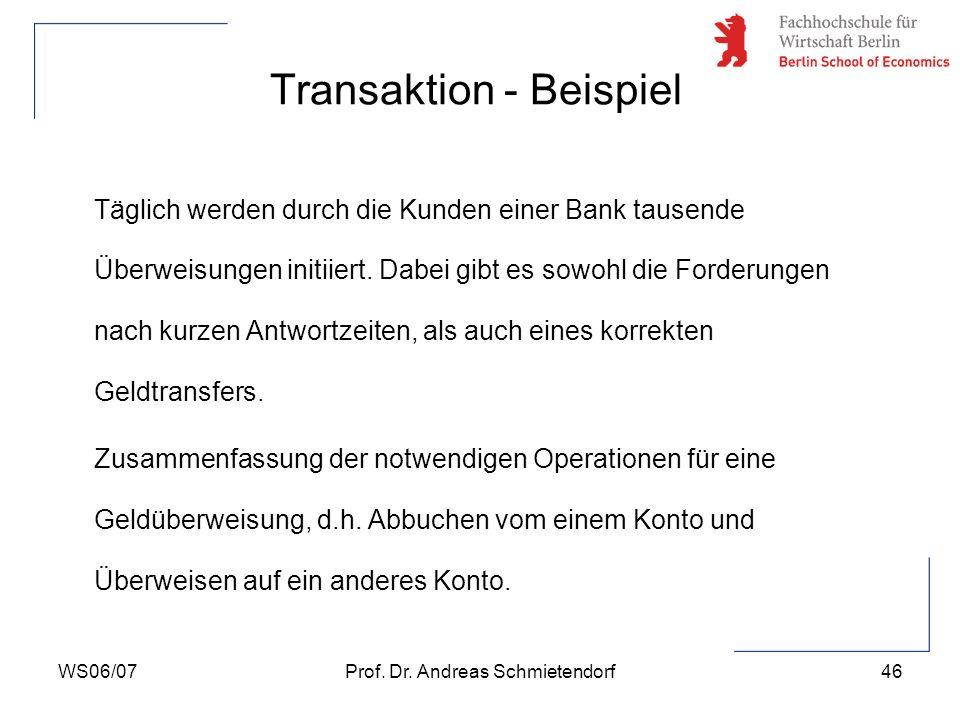 Transaktion - Beispiel