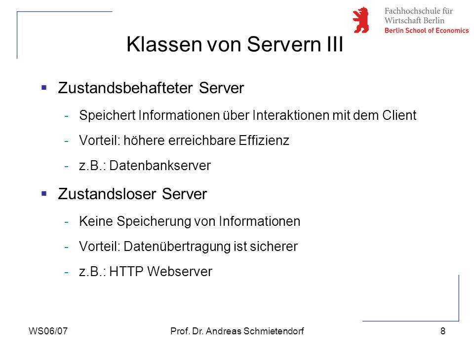 Klassen von Servern III
