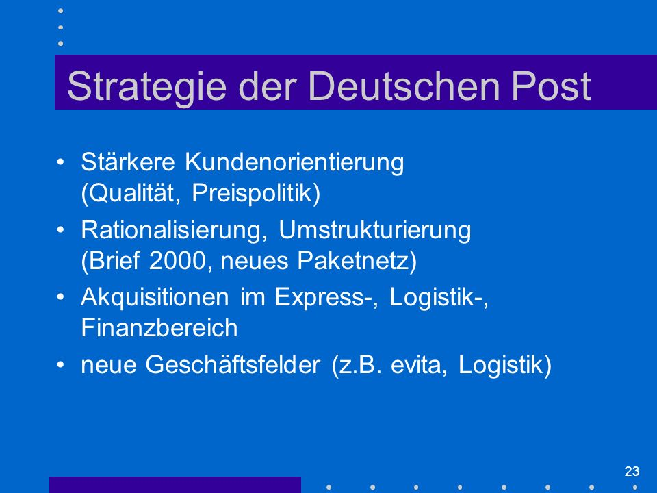 Strategie der Deutschen Post