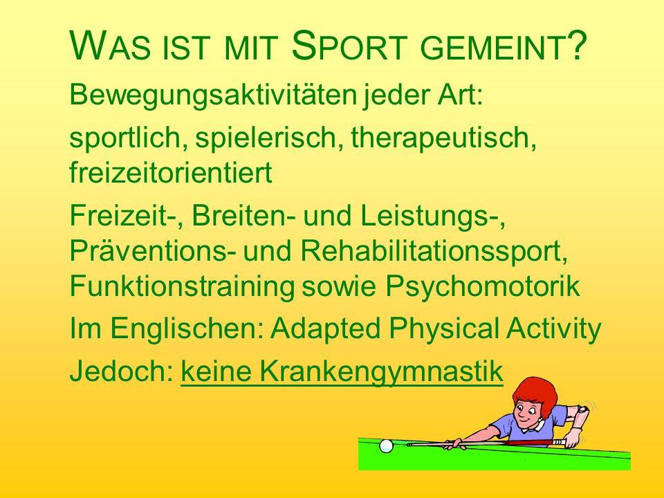 Was ist mit Sport gemeint