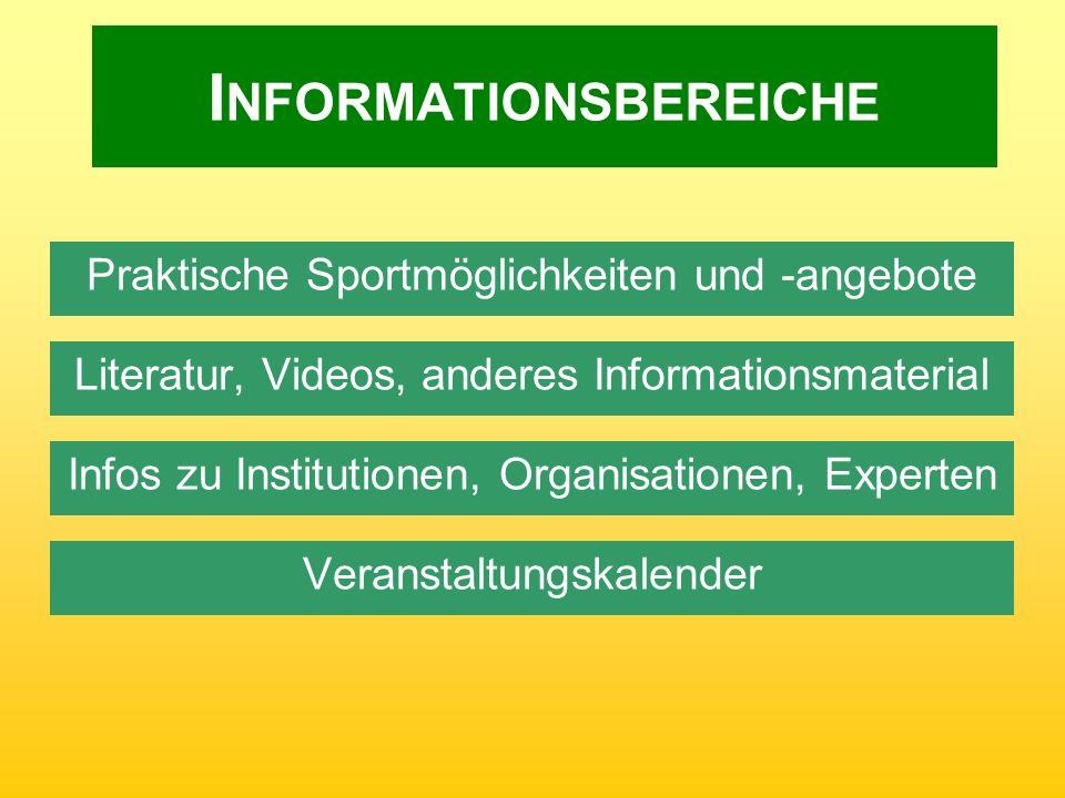 Informationsbereiche