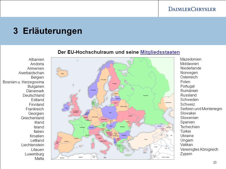 3 Erläuterungen Der EU-Hochschulraum und seine Mitgliedsstaaten