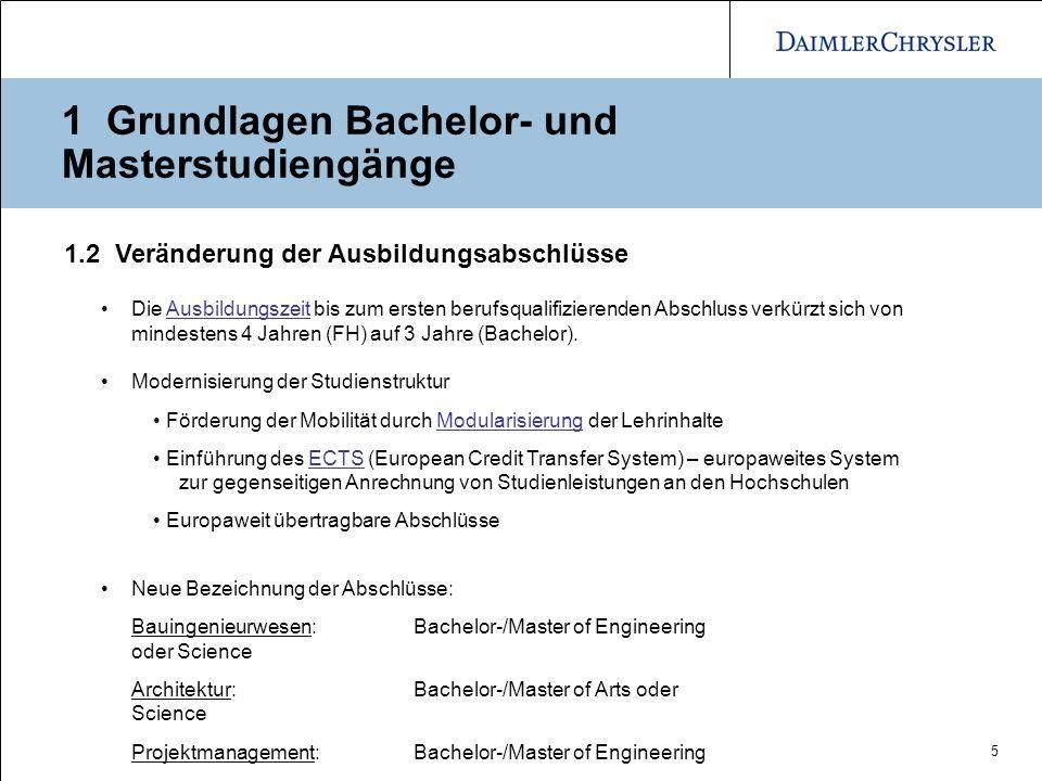 1 Grundlagen Bachelor- und Masterstudiengänge
