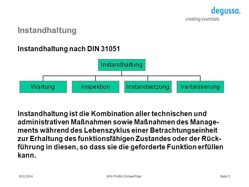 Instandhaltung Instandhaltung nach DIN 31051