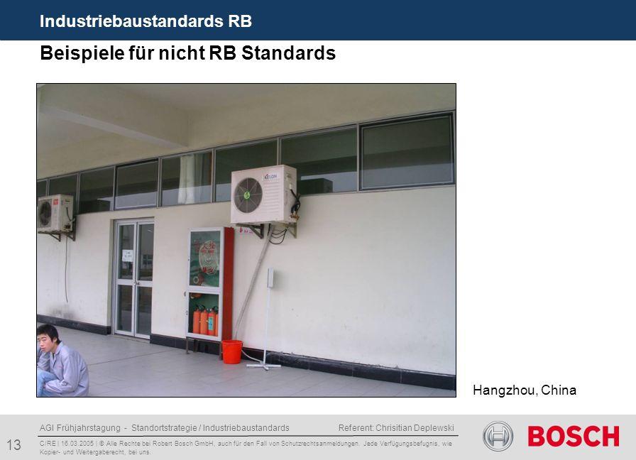 Beispiele für nicht RB Standards